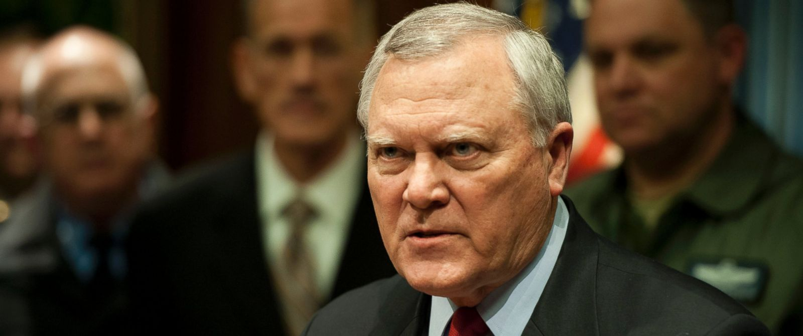 PHOTO: Georgia Gov. Nathan Deal answers questions from the media during a news conference at the Capitol building on Feb. 11, 2014 in Atlanta.