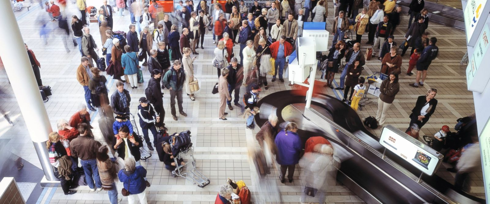 PHOTO: People in an airport are pictured in this stock image.