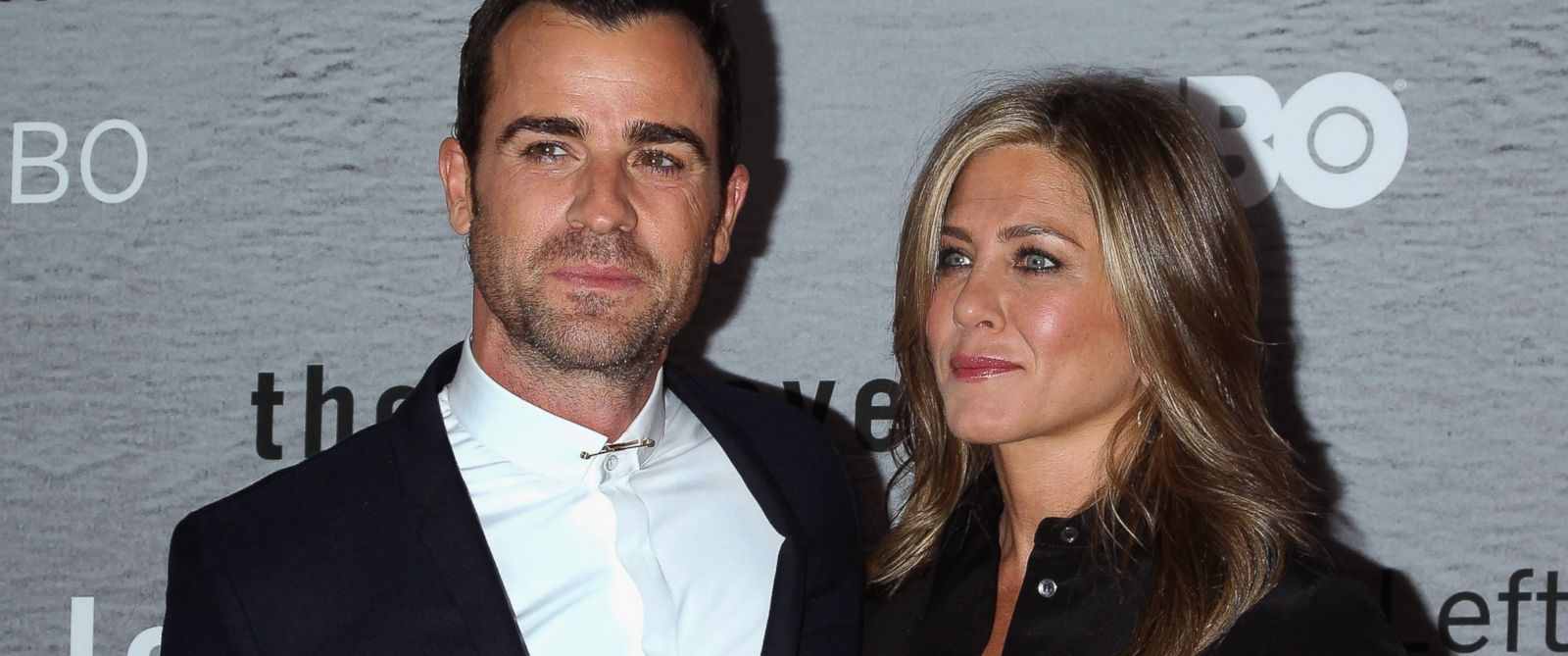 PHOTO: Justin Theroux, left, and Jennifer Aniston, right, are pictured on June 23, 2014 in New York City.