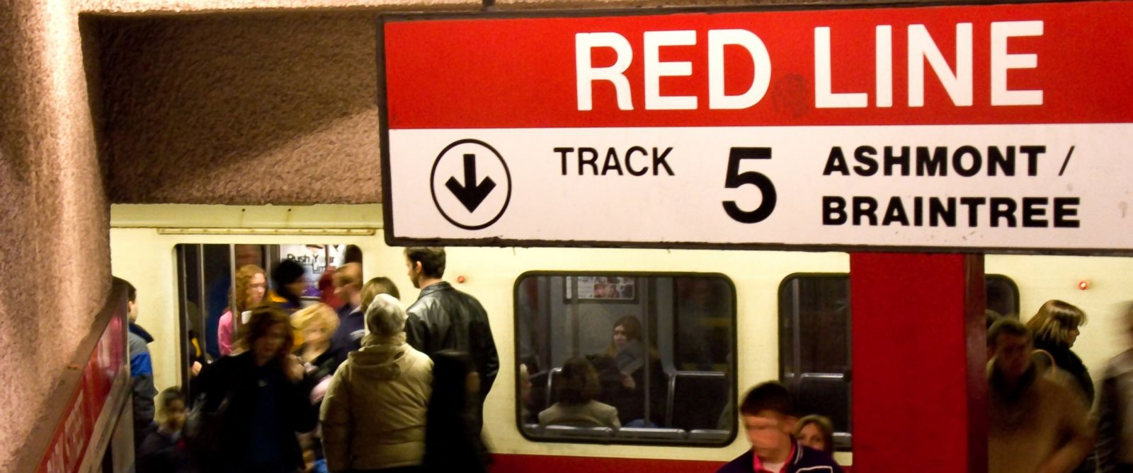 PHOTO: People entering and leaving the Red Line subway station in Boston, MA, is seen in the undated file photo.
