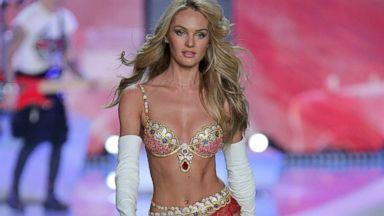 PHOTO: Model Candice Swanepoel, wearing the Royal Fantasy Bra and Belt, walks the runway at the 2013 Victorias Secret Fashion Show, Nov. 13, 2013, in New York City.