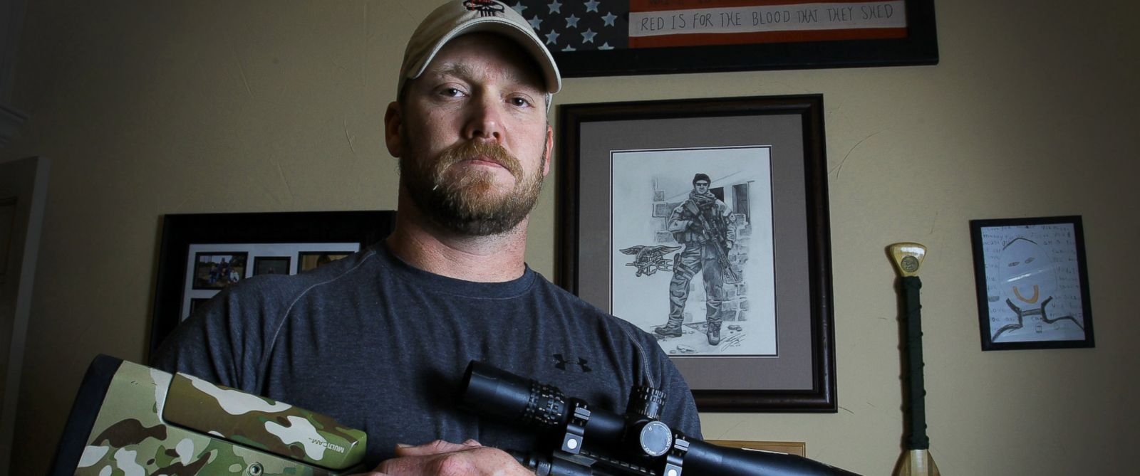 PHOTO: Chris Kyle is pictured on April 6, 2012.
