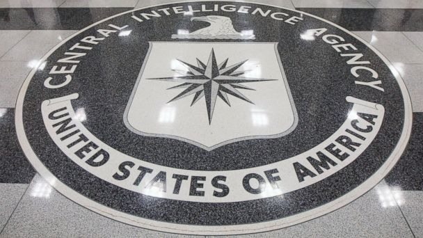 PHOTO: The seal of the Central Intelligence Agency is displayed in the foyer