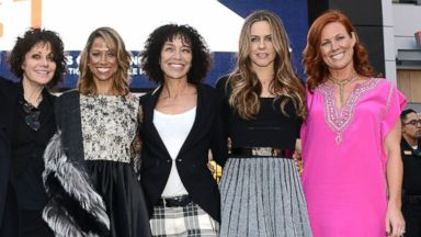 "PHOTO: Amy Heckerling, Stacey Dash, Stephanie Allain, Alicia Silverstone and Elisa Donovan attend the Film Independents pre-festival outdoor screening of ""Clueless"" at L.A. LIVE, May 6, 2014 in Los Angeles."