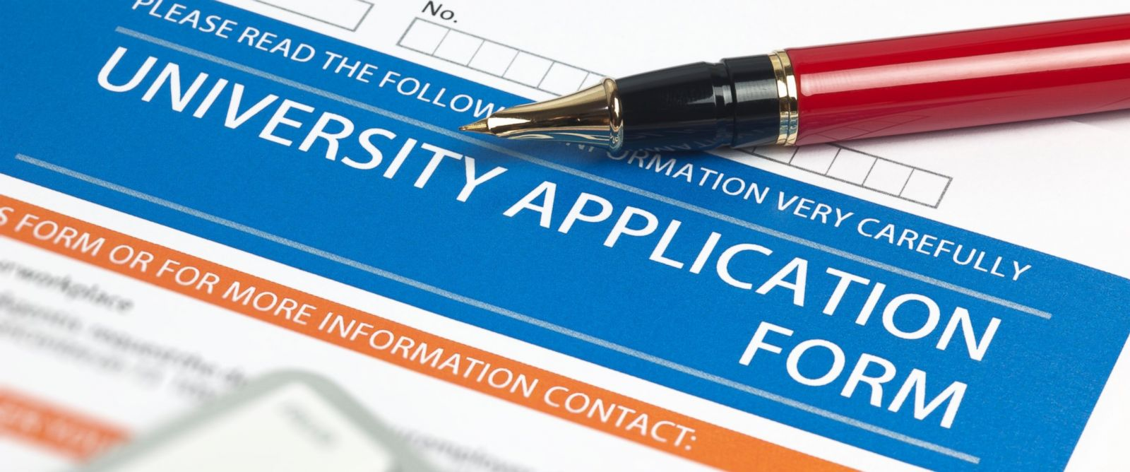 PHOTO:A university application form is seen in this undated file photo.