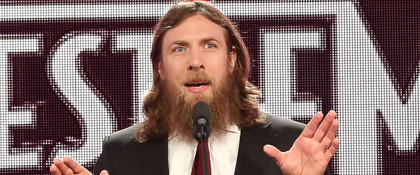 PHOTO: Daniel Bryan attends the WrestleMania 30 press conference at the Hard Rock Cafe New York on April 1, 2014 in New York City.