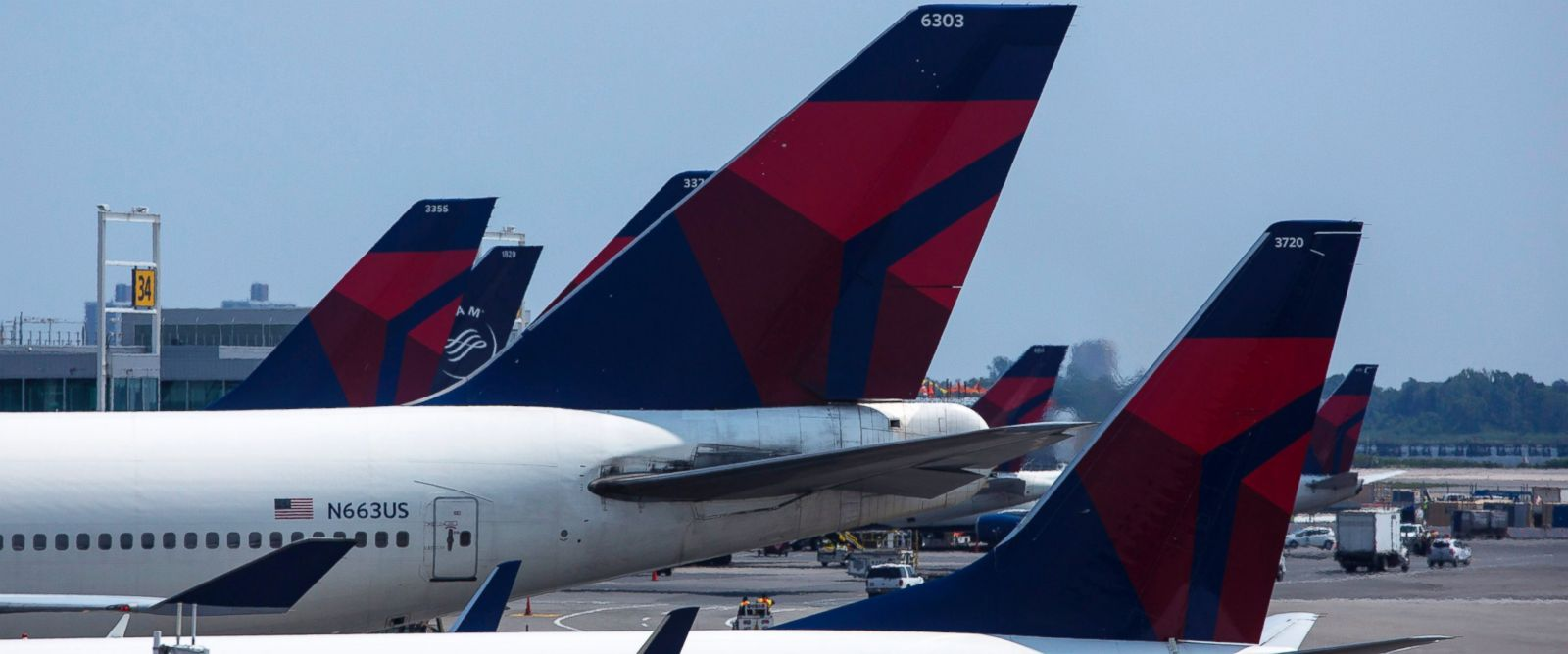 PHOTO: Delta Airlines planes sit at Terminal 4 at John F. Kennedy Airport July 22, 2014 in New York City.