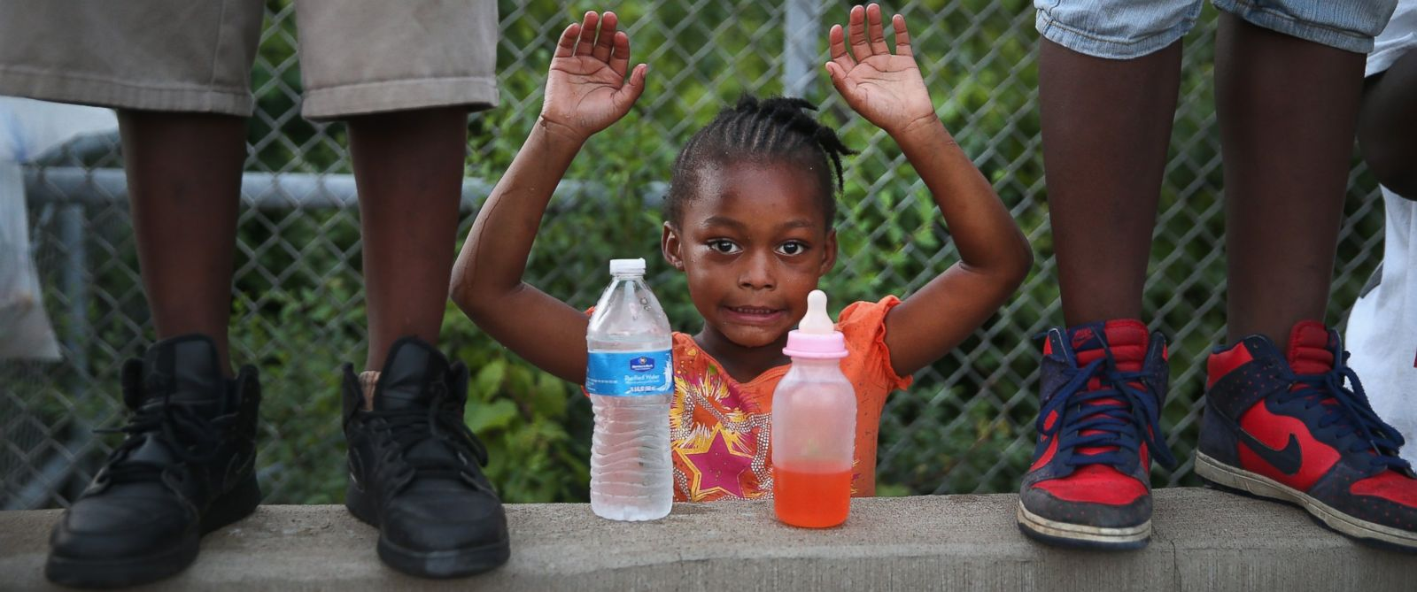 PHOTO: Gabrielle Walker, 5, protests the killing of Michael Brown on Aug. 17, 2014 in Ferguson, Mo.