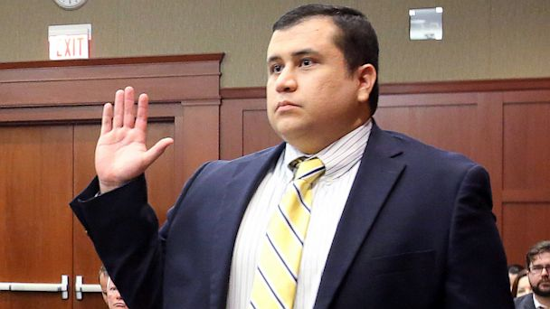 PHOTO: George Zimmerman, defendant in killing of Trayvon Martin, is sworn in as a witness in pre-trial hearing.