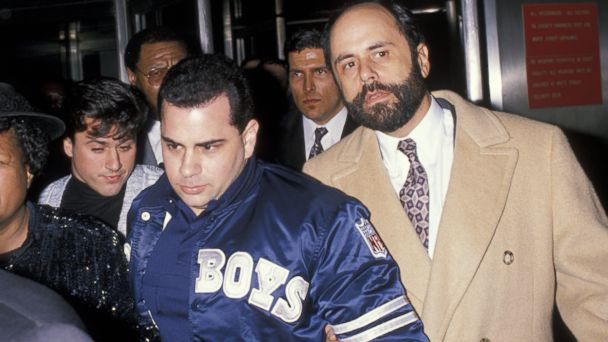 PHOTO: John Gottis court appearance, Feb. 8, 1990.
