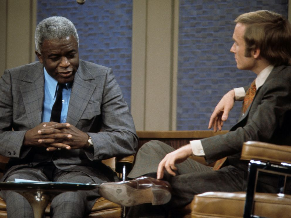 PHOTO: Jackie Robinson and Dick Cavett, on The Dick Cavett Show on Jan. 26, 1972.