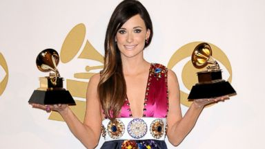 PHOTO: Kacey Musgraves poses in the press room at the 56th GRAMMY Awards at Staples Center, Jan. 26, 2014, in Los Angeles.