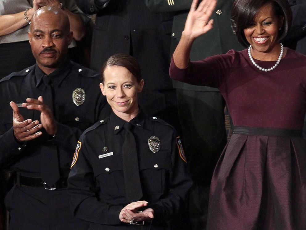 PHOTO: Police Officer Kimberly Munley at the US Capitol, Jan. 27, 2010 in Washington.