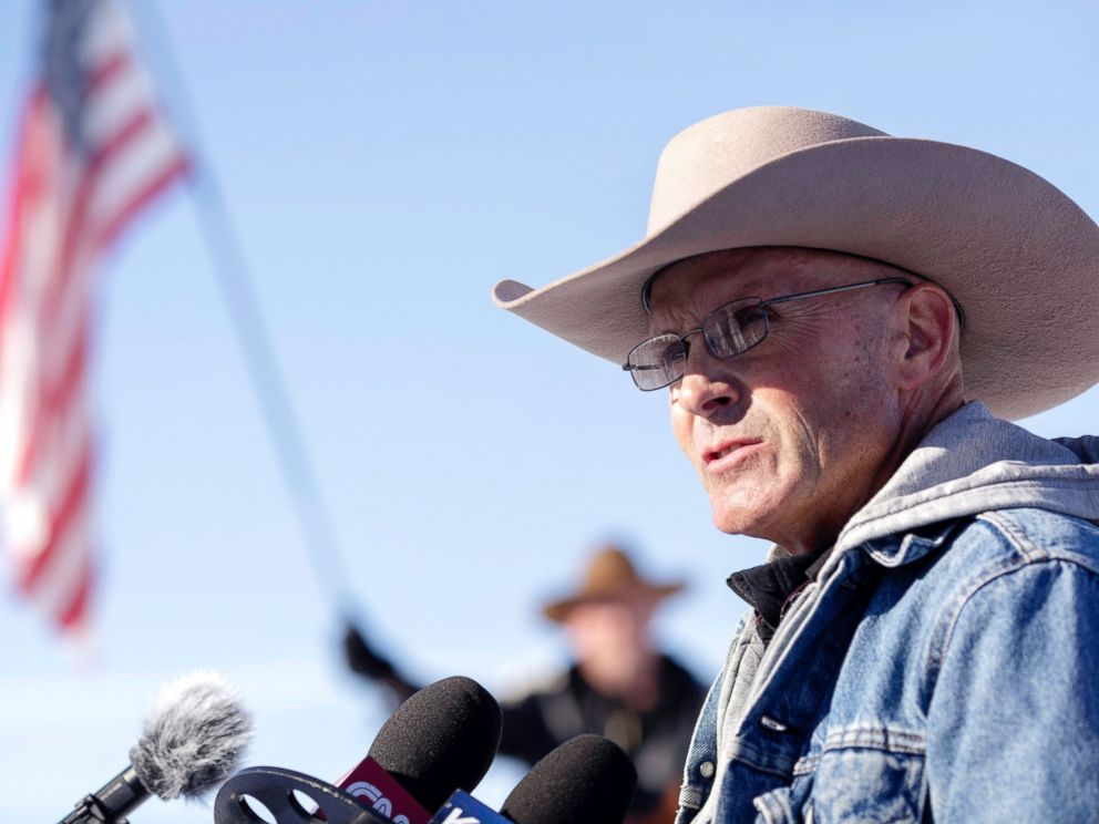 PHOTO: Robert LaVoy Finicum is pictured here near the occupied Malheur National Wildlife Refuge Headquarters.