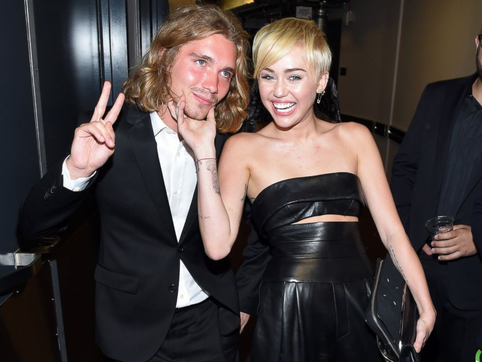PHOTO: My Friends Place representative Jesse and Miley Cyrus attend the 2014 MTV Video Music Awards at The Forum, Aug. 24, 2014 in Inglewood, Calif.