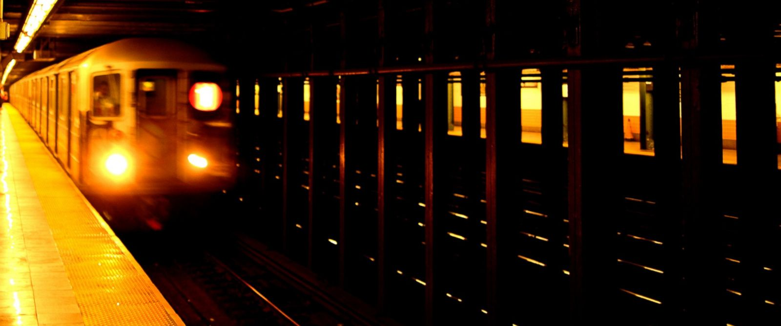 PHOTO: A New York City subway train pulls into the station in this stock photo.