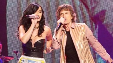 "PHOTO: Katy Perry performs ""Beast of Burden"" onstage with Mick Jagger during The Rolling Stones ""50 and Counting"" tour, May 11, 2013 in Las Vegas."
