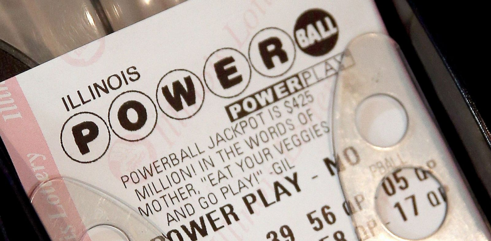 PHOTO: Powerball lottery ticket