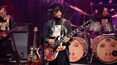 """PHOTO: In this file photo, Prince is pictured on """"Late Night with Jimmy Fallon"""" on Mar. 1, 2013 in New York City."""