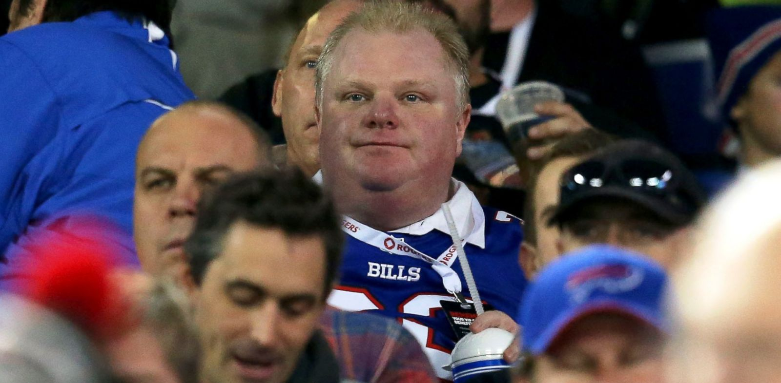 PHOTO: Toronto Mayor Rob Ford watches the Buffalo Bills game against the Atlanta Falcons at Rogers Centre, Dec. 1, 2013, in Toronto.