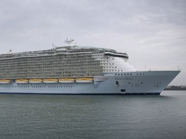 PHOTO: The Royal Caribbean cruise ship, Oasis of the Seas, arrives in Southampton Water on Oct. 15, 2014 in Southampton, England.
