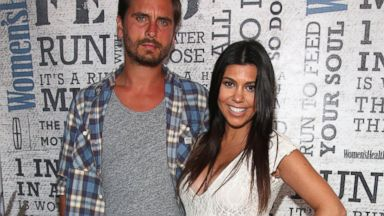 "PHOTO: TV Personality Kourtney Kardashian and Scott Disick attend Womens Health Hosts Hamptons ""Party Under The Stars"" for RUN10 FEED10 at Bridgehampton Tennis and Surf Club, Aug. 9, 2014 in Bridgehampton, N.Y."