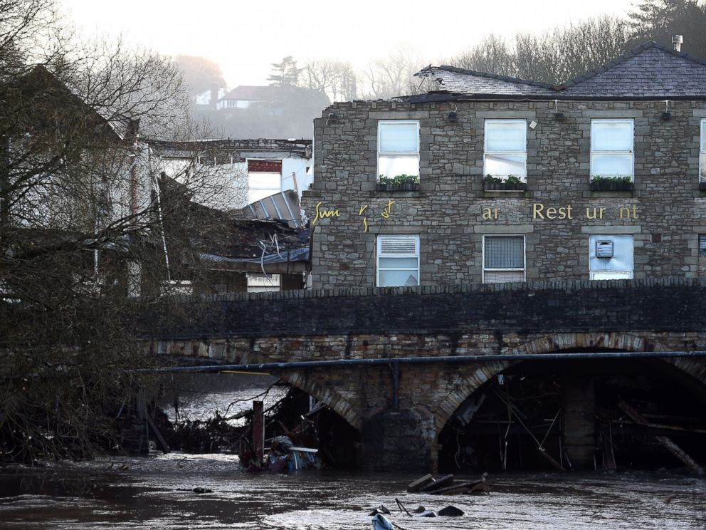 PHOTO:Damage to The Waterside Pub, a two hundred year old public house, Dec. 27, 2015, the day after the River Irwell, swelled by exceptionally heavy rainfall swept through the village of Summerseat in Greater Manchester causing widespread damage.