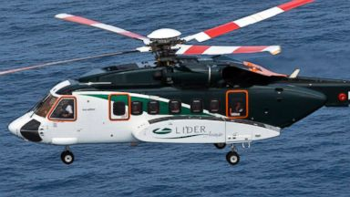 PHOTO: A Sikorsky S-92 helicopter is pictured in Macae, Brazil on Feb. 4, 2013.