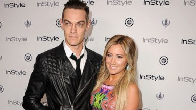 PHOTO: Ashley Tisdale and Christopher French arrives at the 13th Annual InStyle Summer Soiree at Mondrian Los Angeles, Aug. 14, 2013, in West Hollywood, Calif.