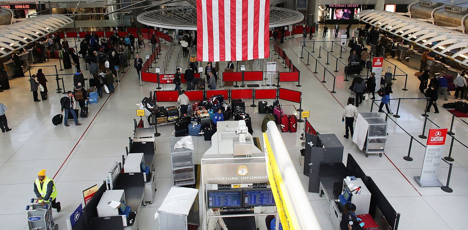 PHOTO: TSA, security, airplane, JFK, airport