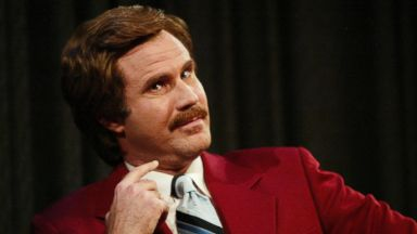 "PHOTO: Will Ferrell aka Ron Burgundy participates in Q&A after a special screening of the film ""Anchorman: The Legend of Ron Burgundy"" on July 7, 2004 in New York City."