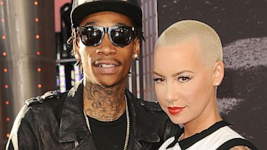 """PHOTO: Rapper Wiz Khalifa and Amber Rose attend the premiere of """"Fast & Furious 6"""" at Universal CityWalk, May 21, 2013 in Universal City, California."""