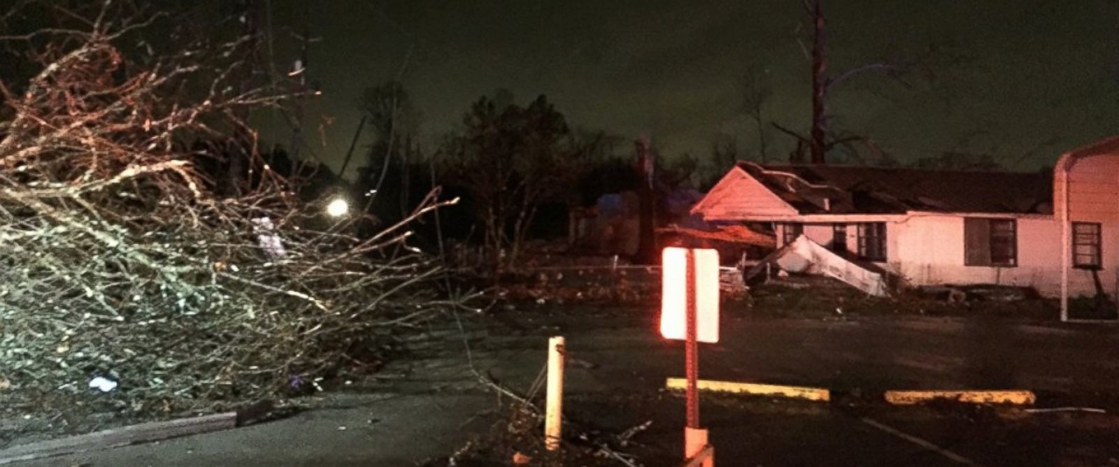 PHOTO: A photo from the Birmingham Fire and Rescue Service Department posted on December 25, 2015, showing damage that occurred in Birmingham, Alabama following a storm.