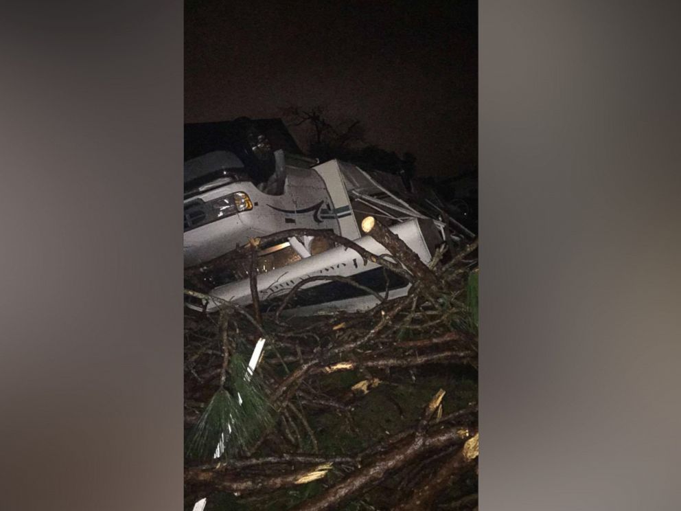 PHOTO: A Winnebago in Pensacola, Fla. was completely overturned by an apparent tornado.