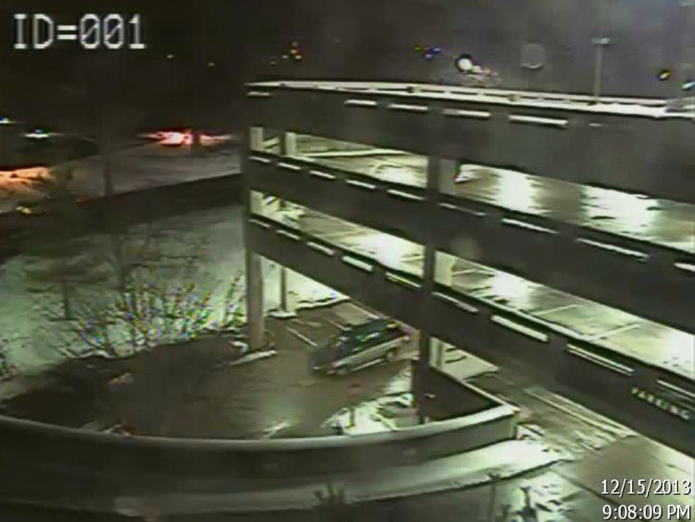 Surveillance footage provided to ABC News from Dec. 15, 2013 shows an SUV driven by suspects in a shooting at The Mall at Short Hills in New Jersey.
