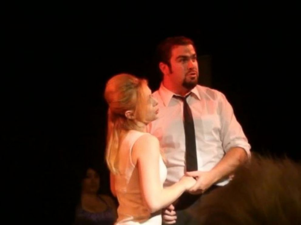 PHOTO: Daniel Wozniak and Rachel Buffet performed in the musical Nine at the Liberty Theater on the night Sam Herr was killed.