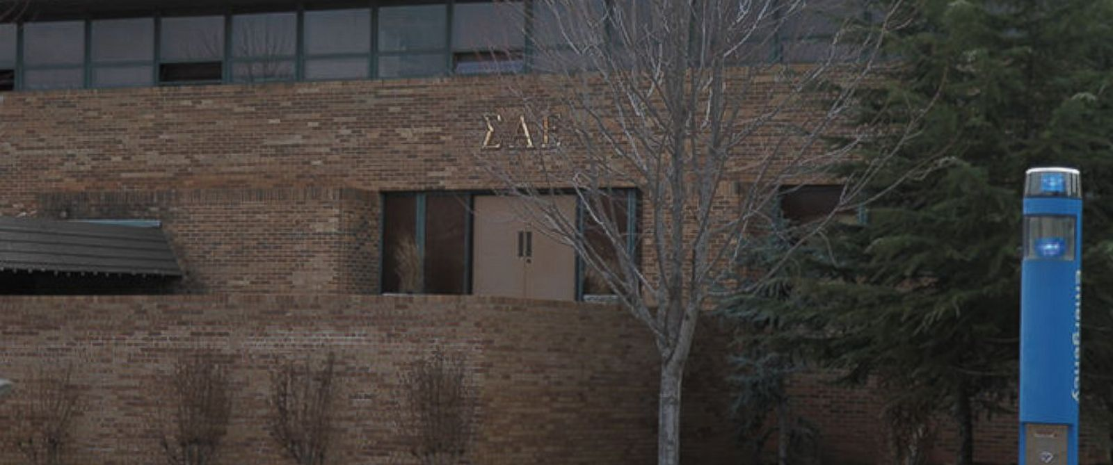 PHOTO: The Sigma Alpha Epsilon fraternity house is seen at the University of Oklahoma in Norman, Oklahoma.