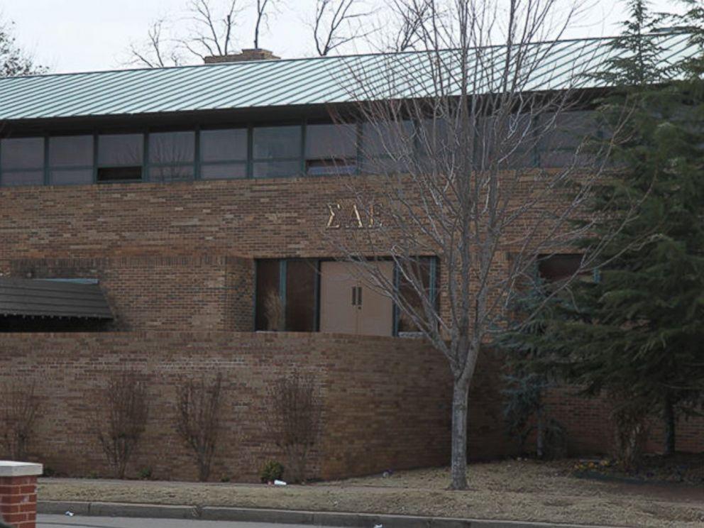 PHOTO: The Sigma Alpha Epsilon fraternity house is seen at the University of Oklahoma in Norman, Oklahoma.