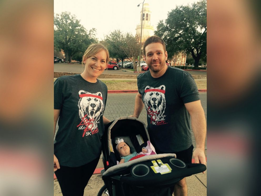 PHOTO: Katy Humphrey, 33, from Salado, Texas, is pictured here next to her baby Millie and her husband.
