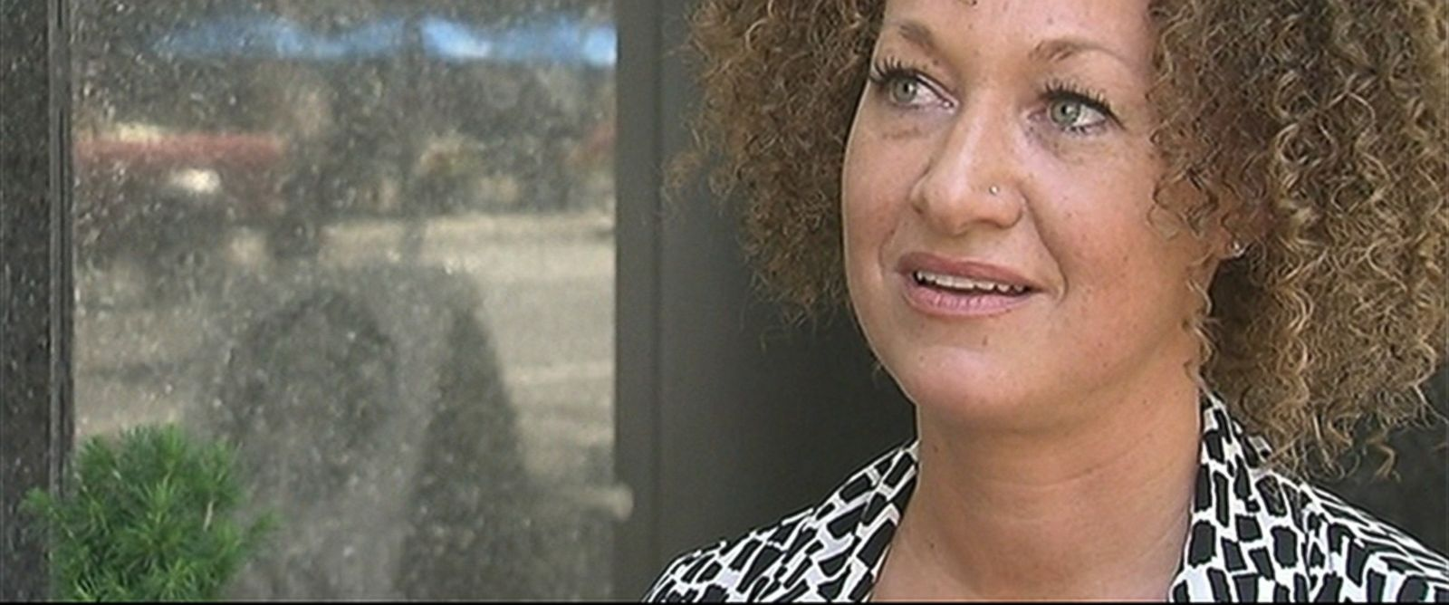 PHOTO: Rachel Dolezal, a Spokane, Washington civil rights advocate, appears in an interview with ABC affiliate KXLY, June 10, 2015.