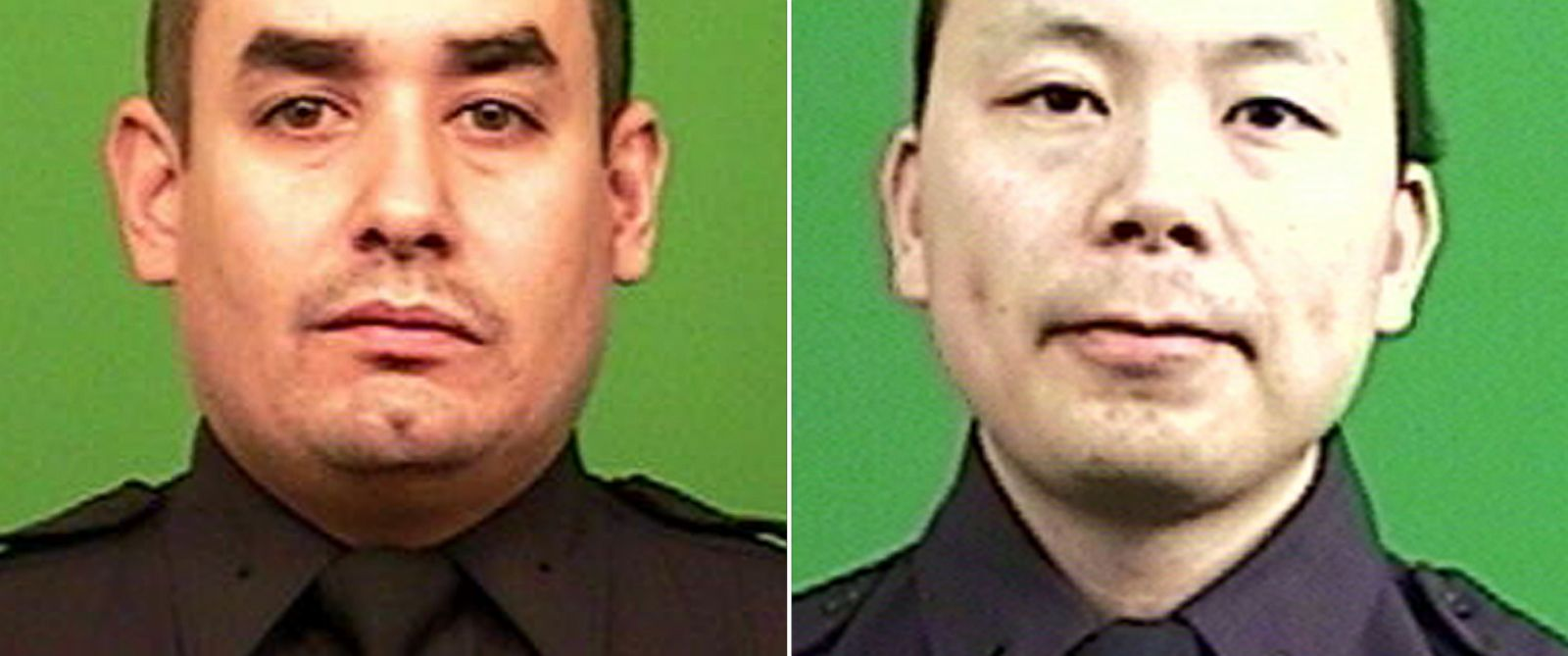 PHOTO: New York Police Department officers Rafael Ramos, left, and Wenjian Liu were killed, Dec. 20, 2014, as they sat in their car in the Bedford-Stuyvesant neighborhood of Brooklyn.