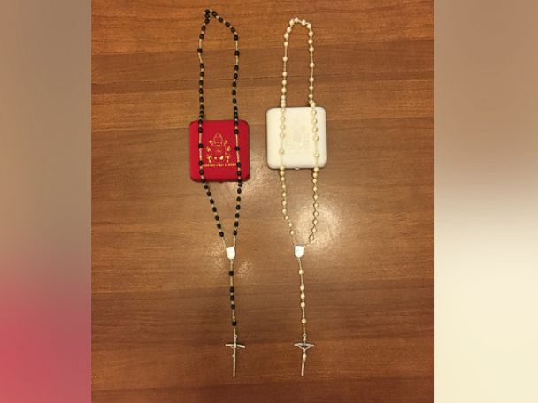 PHOTO:These are the rosaries Kim Davis says Pope Francis gave to her and her husband Joe during their meeting last week.