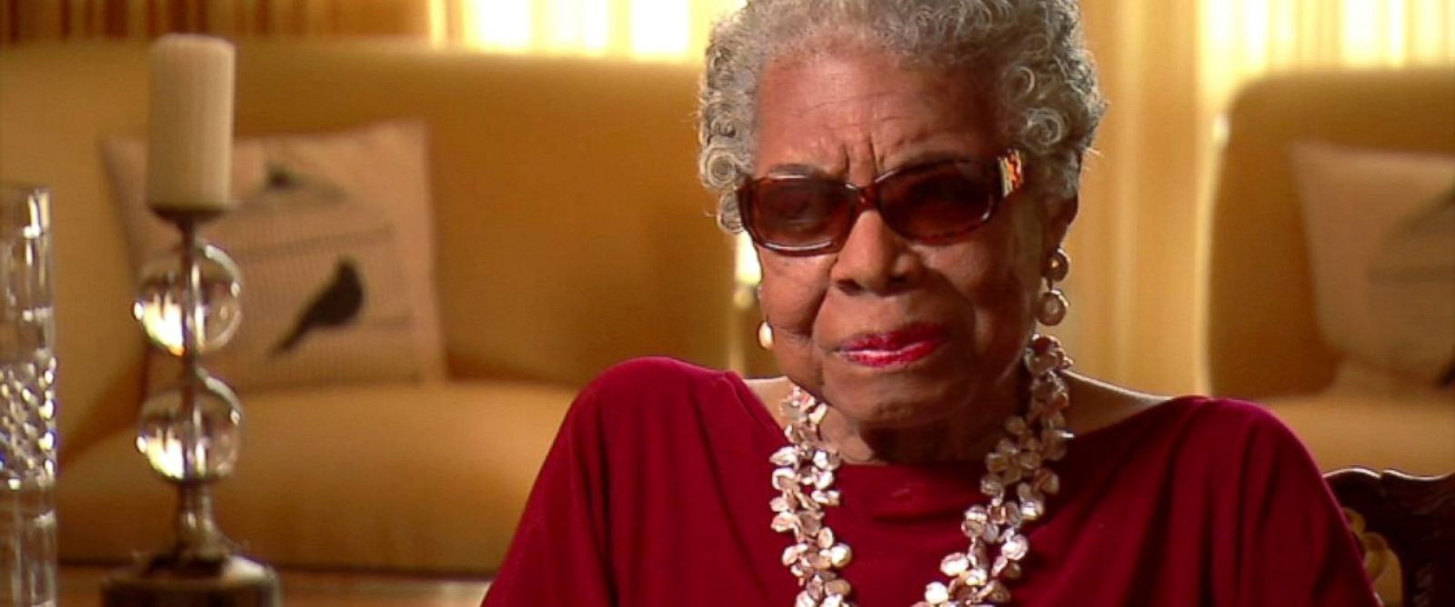 PHOTO: Maya Angelous final recorded speech was captured May 22, 2014 at her home in North Carolina. The video statement was recorded in advance of Major League Baseballs Civil Rights Luncheon.
