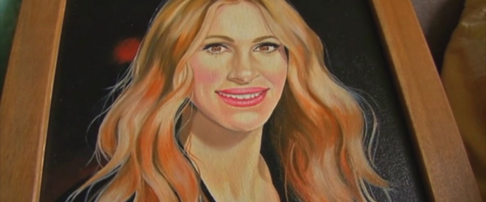 PHOTO: Richard Matt, who escaped from an upstate New York prison, had previously sent his friend John Mulligan, of Syracuse, New York, a series of paintings showing celebrity portraits.