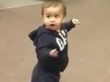 PHOTO: Abraham Vargas posted a video of his 21-month-old son Azraels priceless reaction to automatic sliding doors at their local grocery store.
