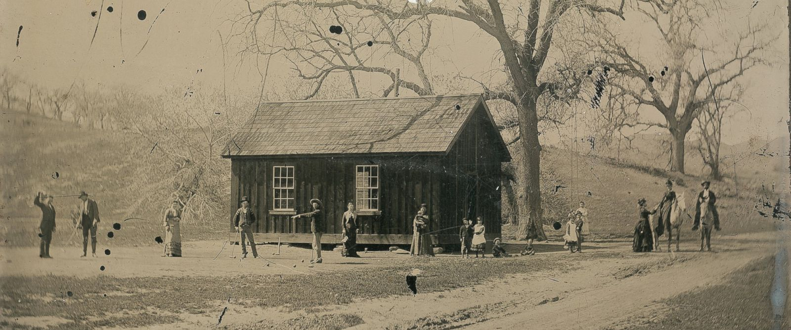 Billy the kid seen here playing croquet with members of his gang and