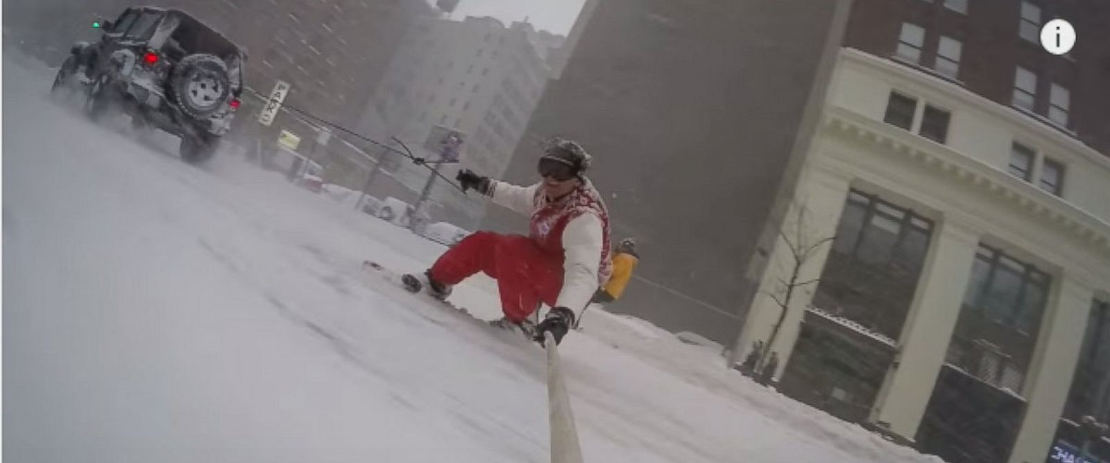 PHOTO: Casey Neistat posted this video snowboarding in New York City on his Facebook and YouTube pages.