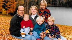 PHOTO: Cal Harris is seen with his family in this undated family handout.