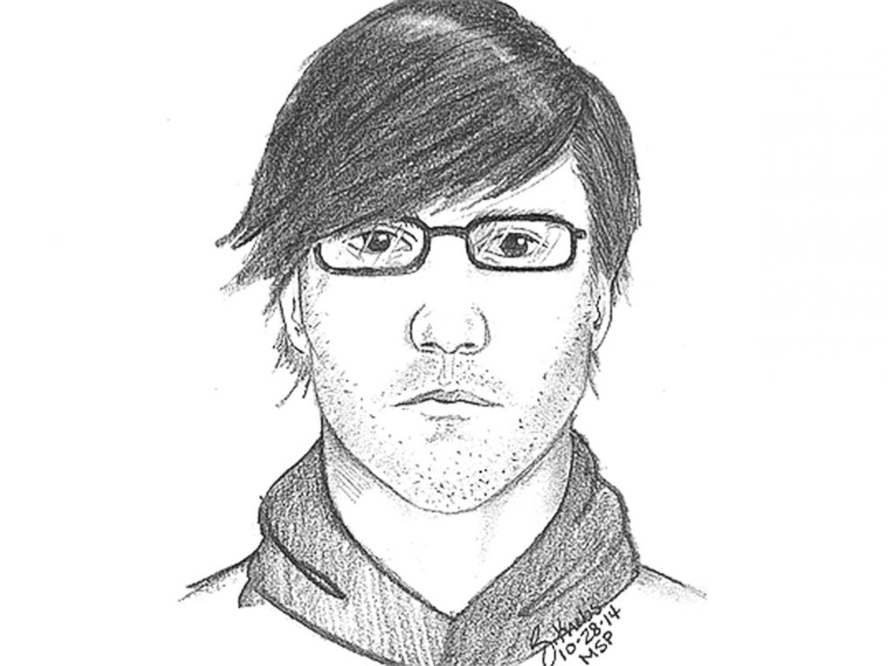 PHOTO: A sketch of a man who was last seen with Chelsea Bruck, early Oct. 26, 2014.