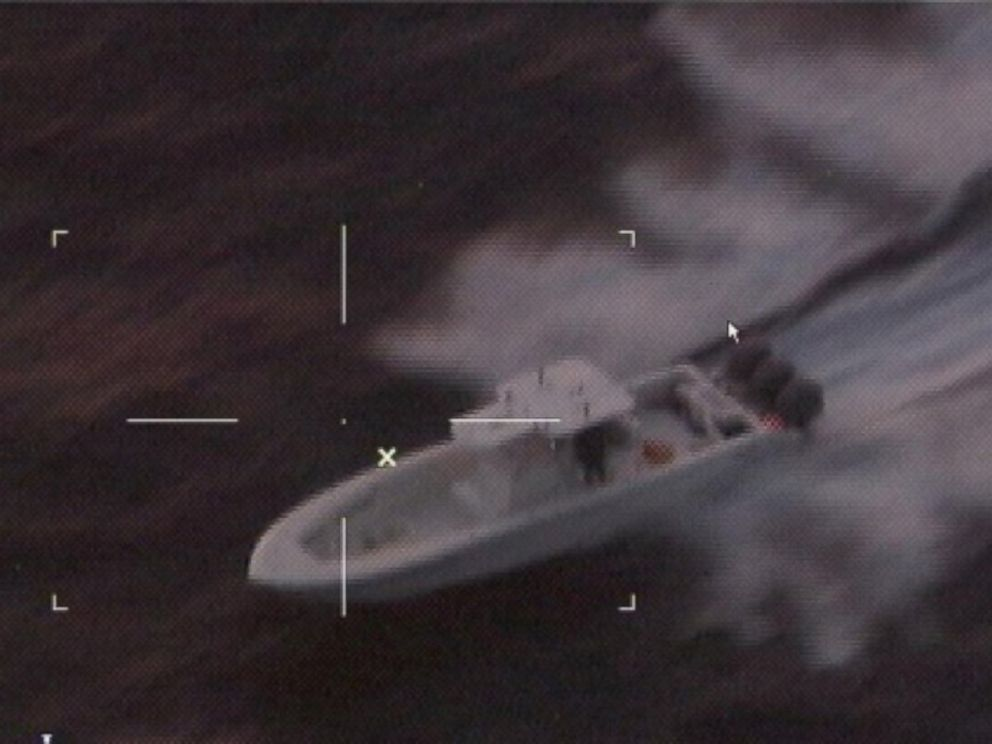 PHOTO: Three suspected boat thieves led the Coast Guard on a 345-mile chase that ended on Christmas Day near Cancun, Mexico.